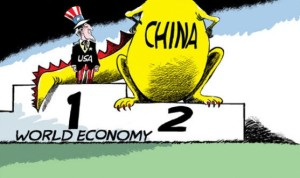 China about to push the US aside